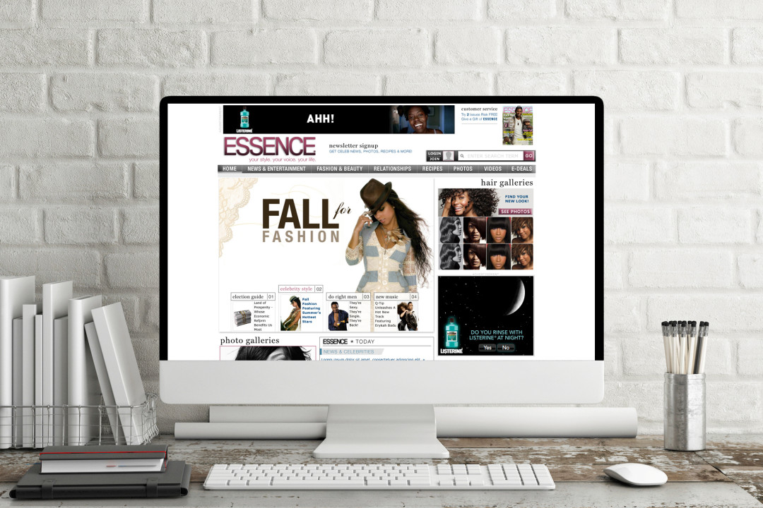 Essence.com Re-design 2008